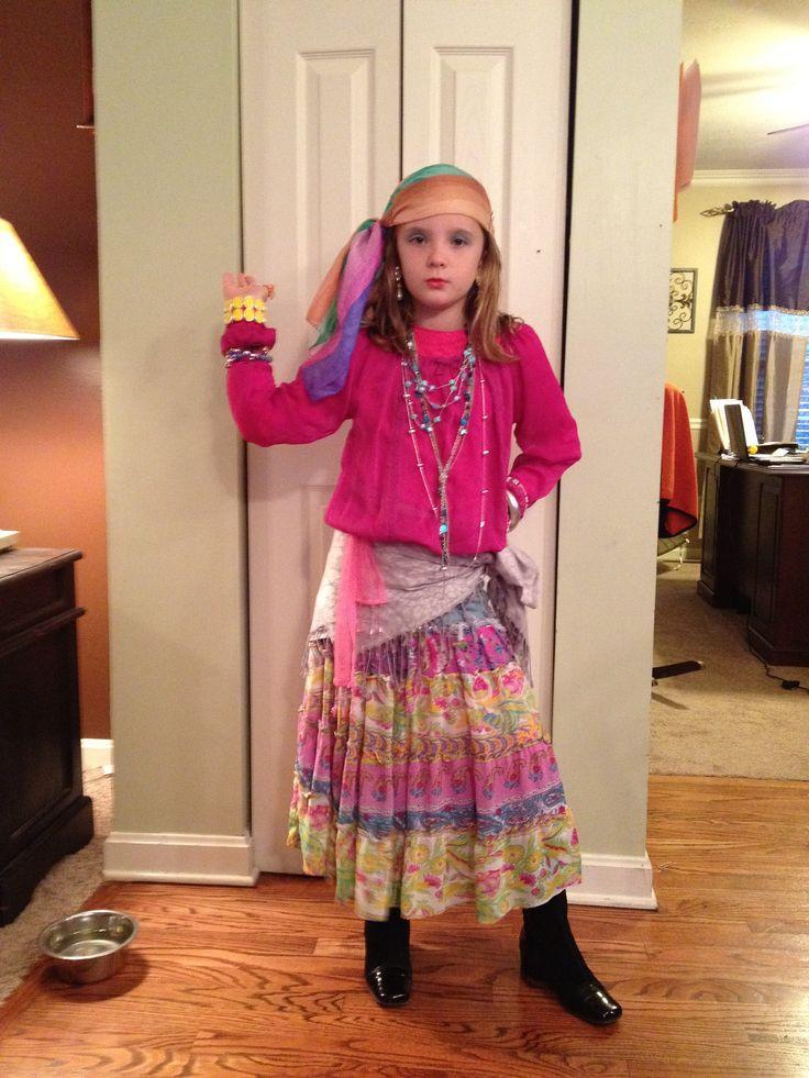 Gypsy Costumes DIY  Homemade gypsy costume halloween Pinterest