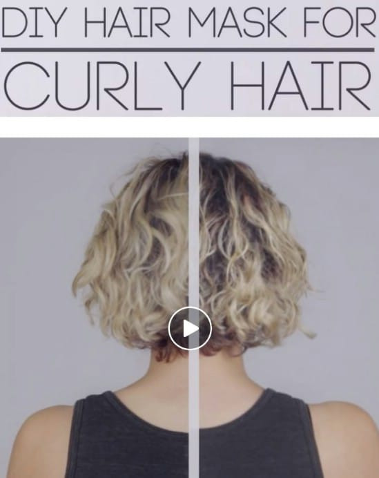 Hair Mask For Curly Hair DIY  15 All Natural Homemade Hair Masks That Give You Healthy