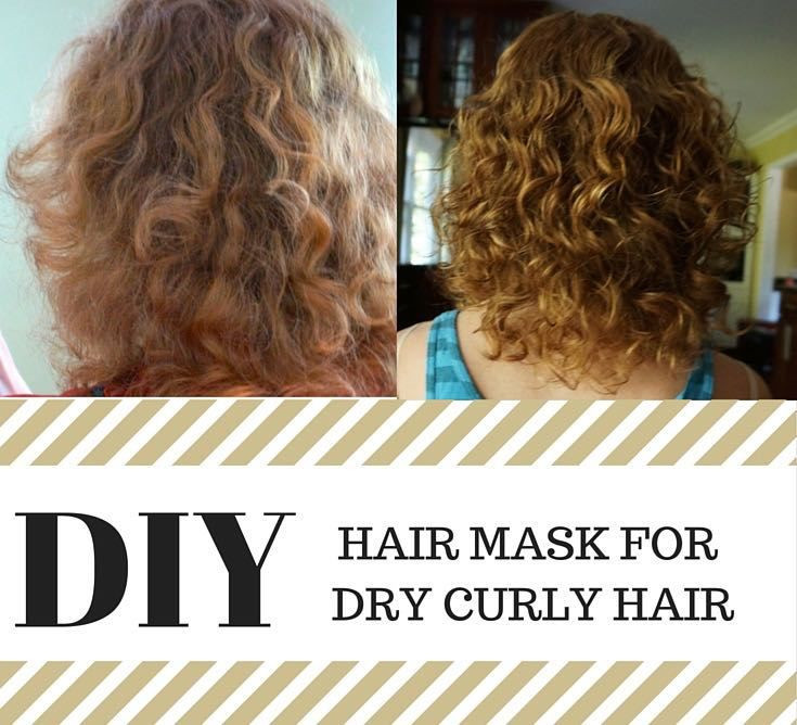 Hair Mask For Curly Hair DIY  1000 ideas about Dry Curly Hair on Pinterest
