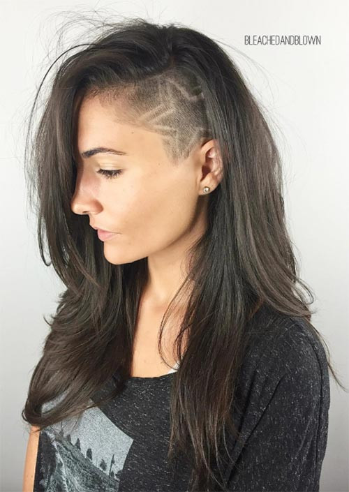 Haircuts For Female  51 Long Undercut Hairstyles for Women In 2019 DIY
