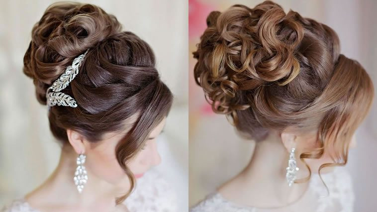 Hairstyle For Bridesmaid 2019  Updo Wedding Hairstyles 2019 Hair Color Ideas for Bride