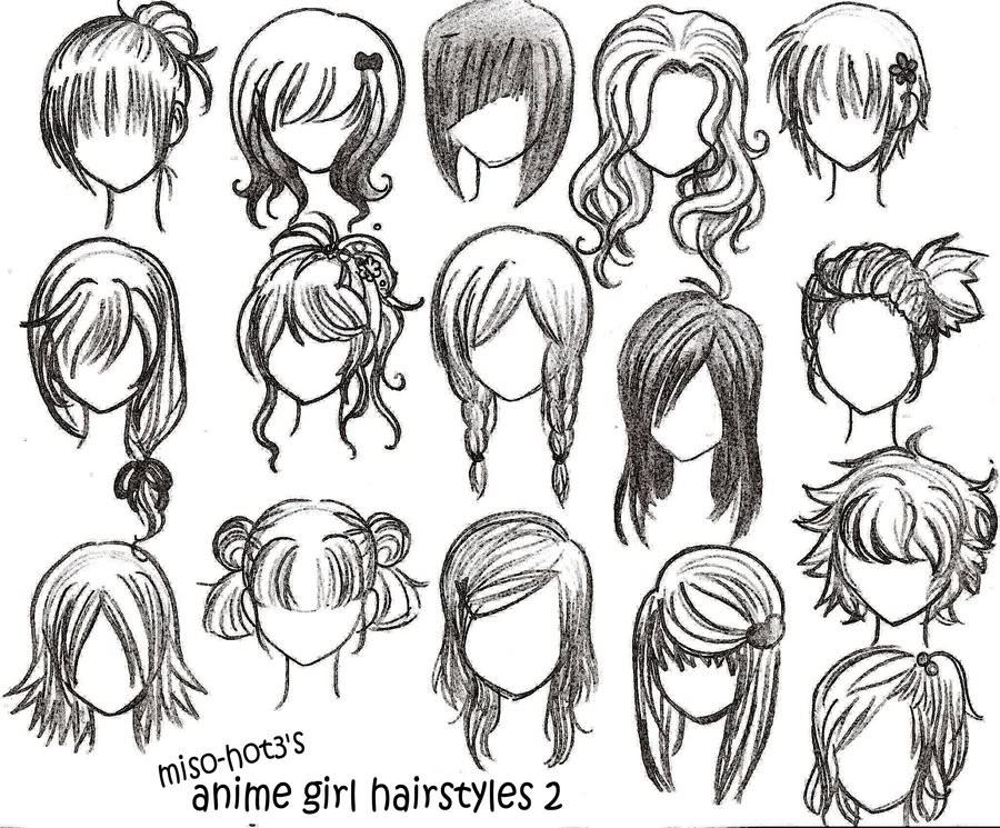 Hairstyles Anime  Anime Girl Hairstyles Miso