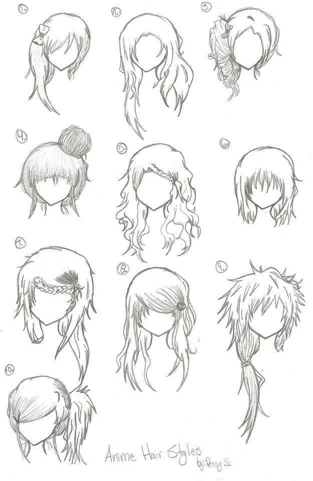 Hairstyles Anime  Hairstyles Anime Manga Drawing Art Bun Curly
