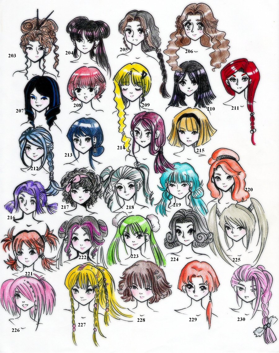 Hairstyles Anime  28styles 220 In All Edition 5 by NeonGenesisEVARei on