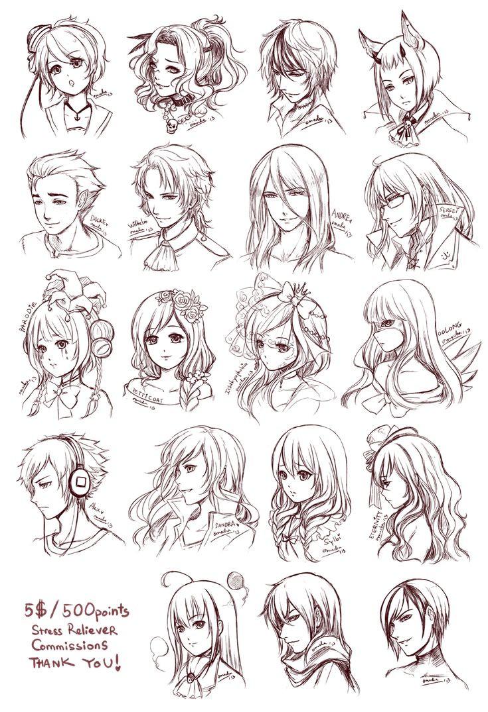 Hairstyles Anime  Anime Hair Hats Bows Viel Clown Joker long hair short hair