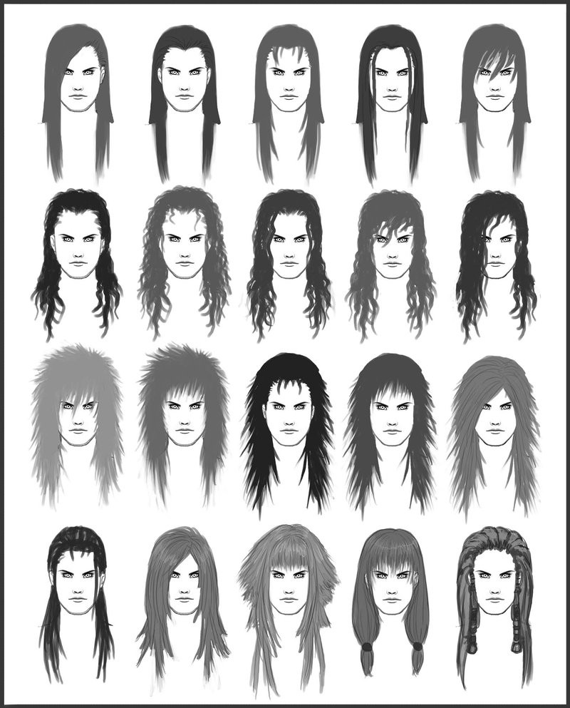 Best ideas about Hairstyles Drawing Male . Save or Pin Men s Hair Set 5 by dark sheikah on DeviantArt Now.