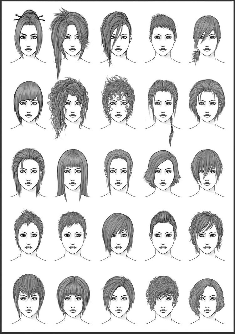 Best ideas about Hairstyles Drawing Male . Save or Pin Women s Hair Set 4 by dark sheikah on DeviantArt Now.
