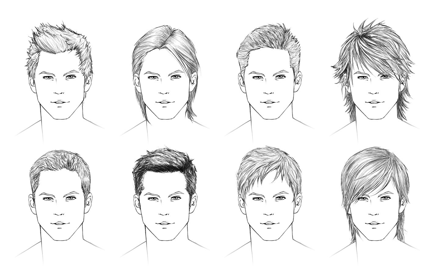 Best ideas about Hairstyles Drawing Male . Save or Pin How to draw hair male Now.