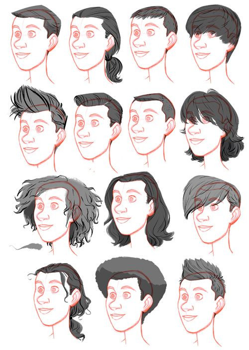 Best ideas about Hairstyles Drawing Male . Save or Pin Men Hair Drawing at GetDrawings Now.