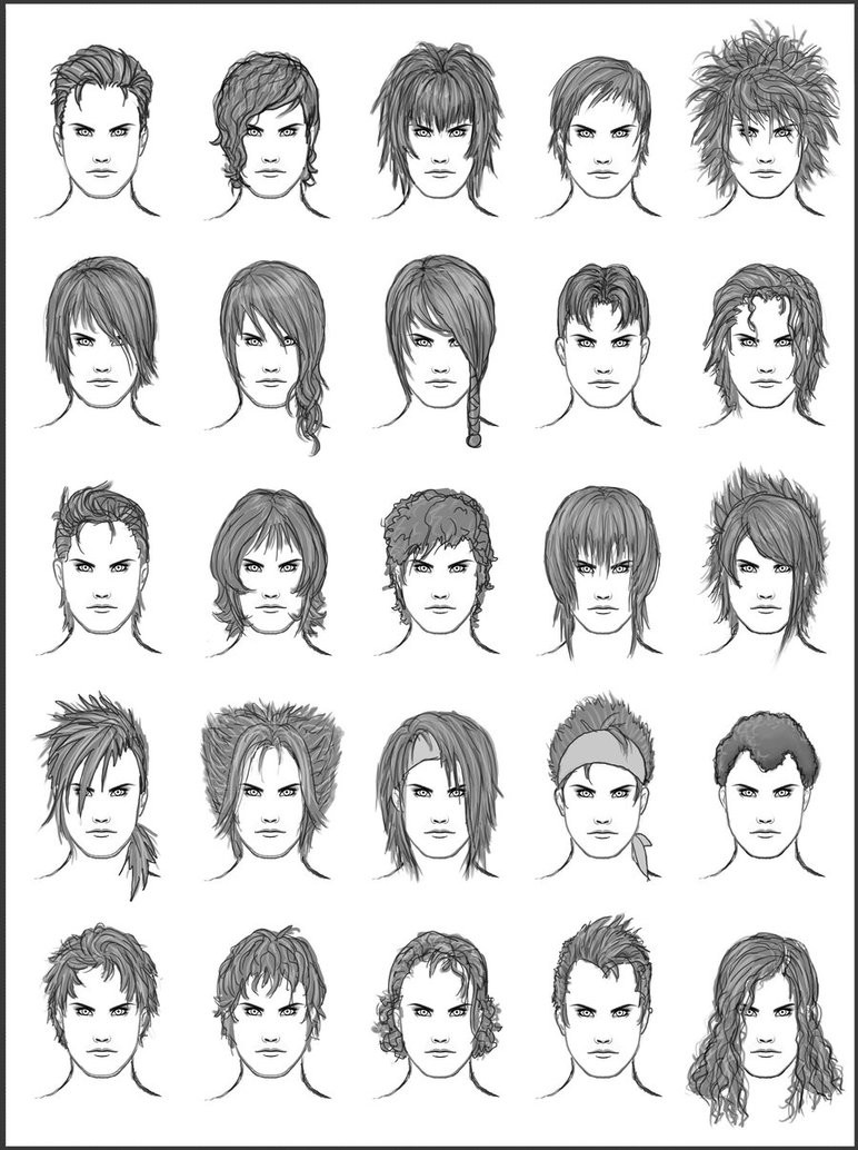 Best ideas about Hairstyles Drawing Male . Save or Pin Men s Hair Set 9 by dark sheikah on DeviantArt Now.