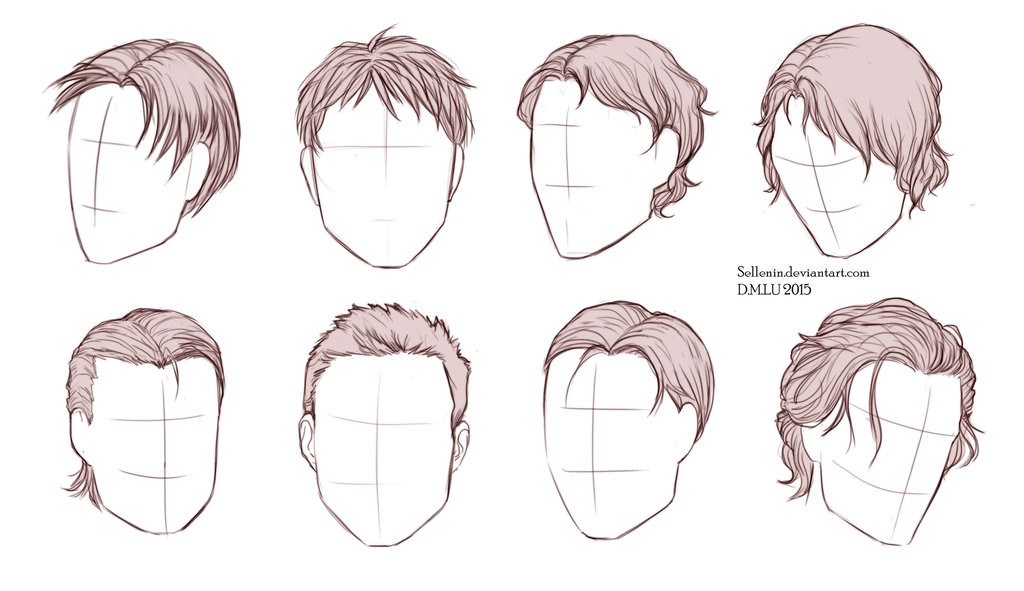 Best ideas about Hairstyles Drawing Male . Save or Pin Male Hairstyles by Sellenin on DeviantArt Now.
