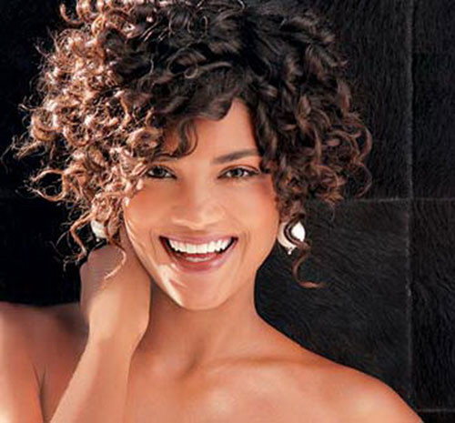 Hairstyles For Curly Thick Hair  16 Short Hairstyles for Thick Curly Hair crazyforus