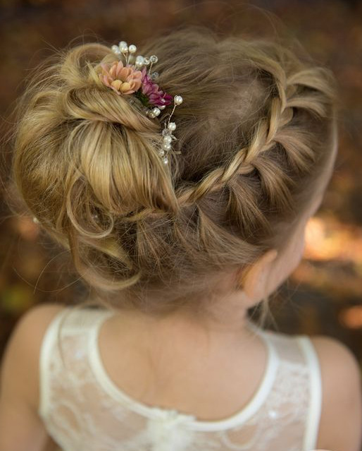 Hairstyles For Flower Girls  35 Cute & Fancy Flower Girl Hairstyles for Every Wedding