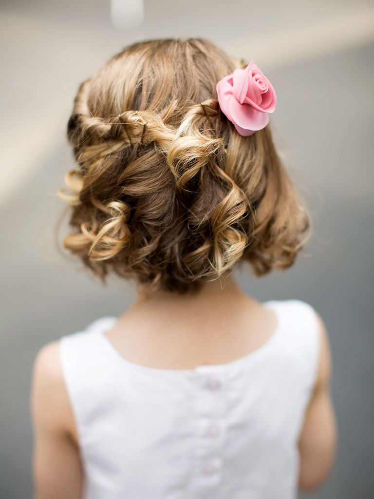 Hairstyles For Flower Girls  Curly Flower Girl Hairstyles