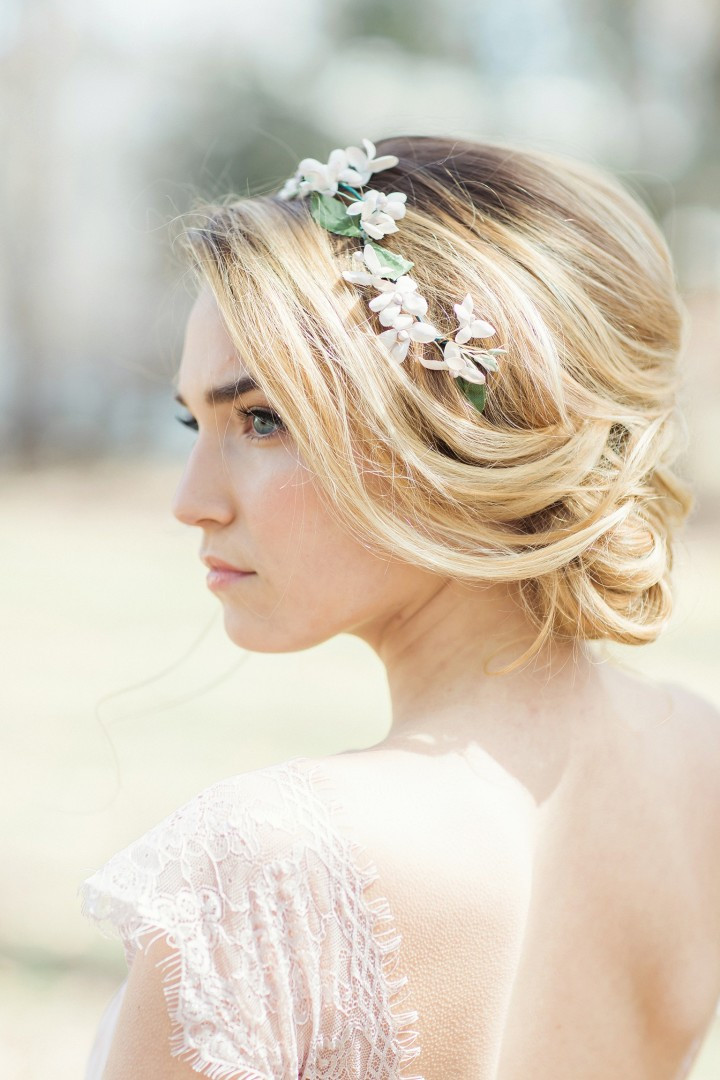 Hairstyles For Going To A Wedding  Flower Power Classic Floral Wedding Hairstyles by Jackie