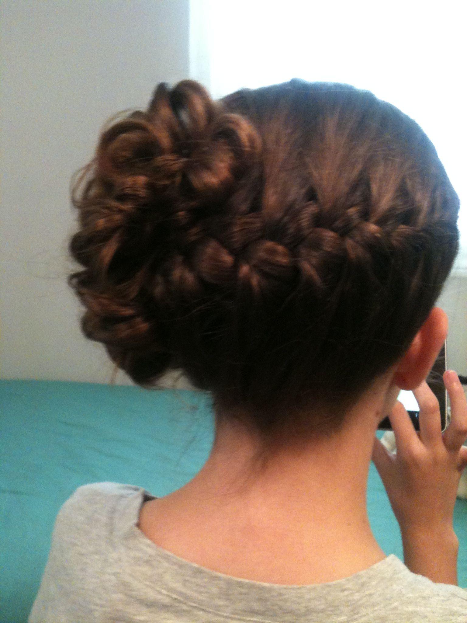 Hairstyles For Junior Bridesmaid  Wedding hairstyle jr bridesmaid hair braid
