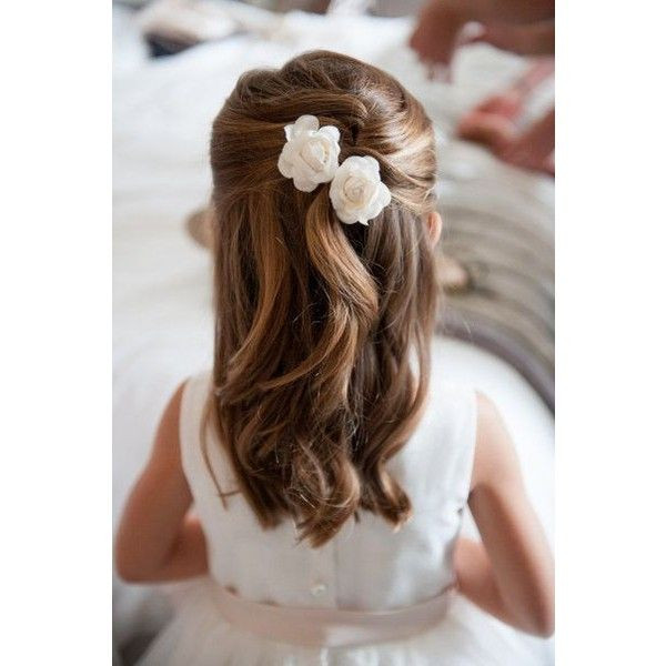 Hairstyles For Junior Bridesmaid  Junior Bridesmaid Hairstyles liked on Polyvore