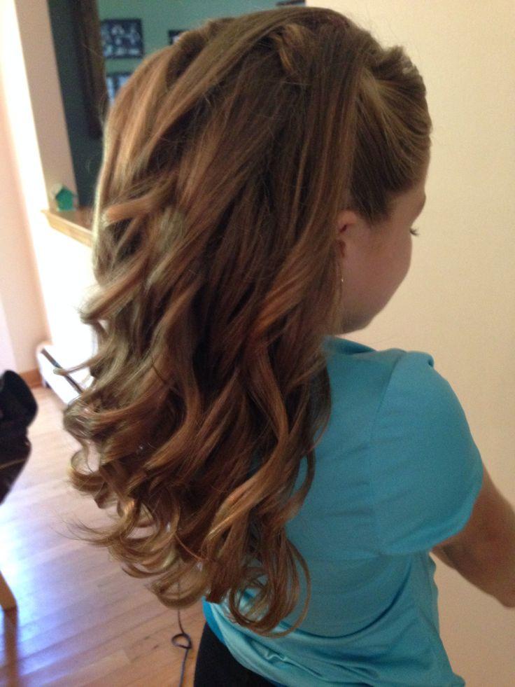 Hairstyles For Junior Bridesmaid  Half up half down curls junior bridesmaid