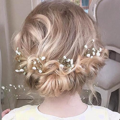 Hairstyles For Junior Bridesmaid  50 Delicate Bridesmaid Hairstyles