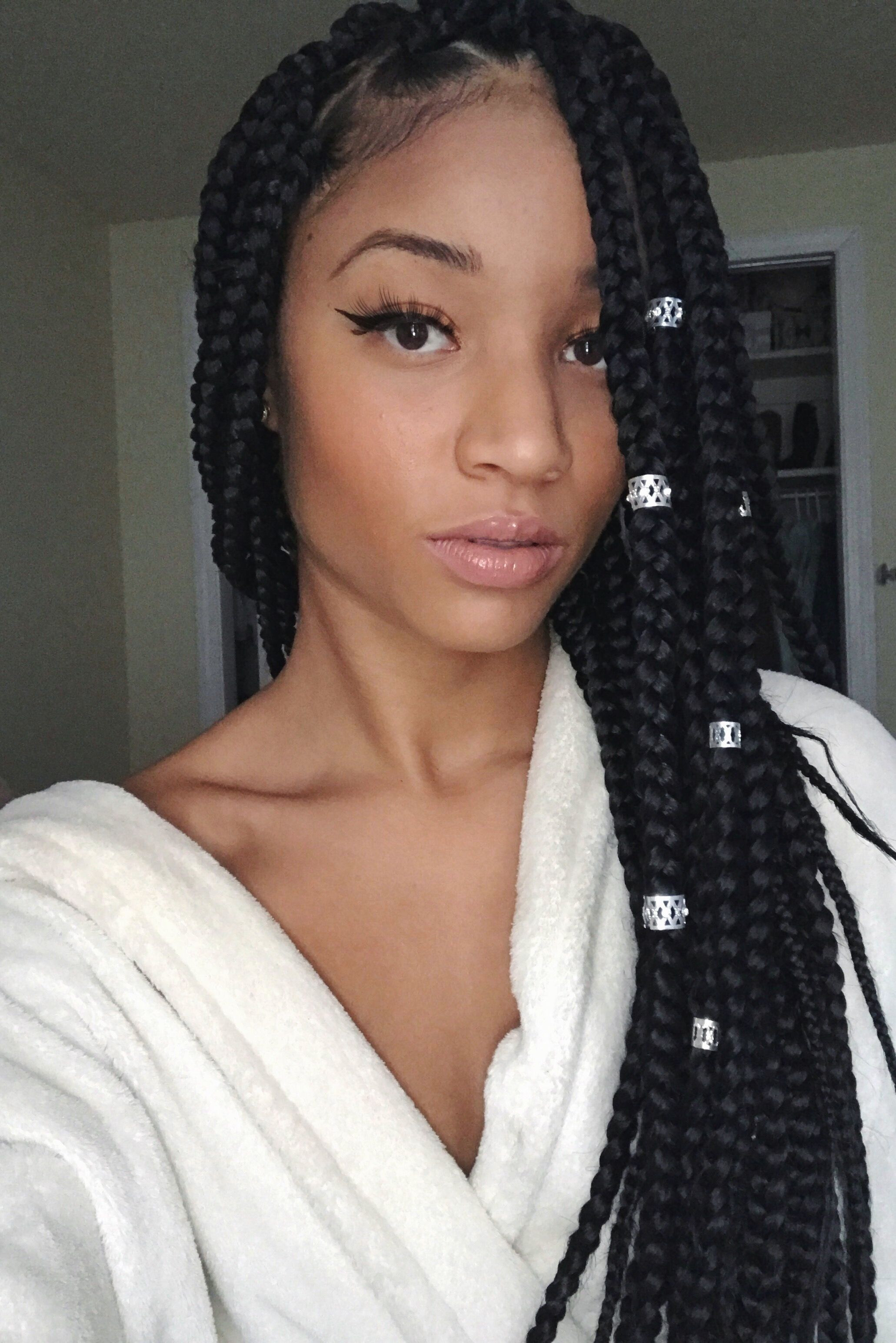 Best ideas about Hairstyles For Light Skin Females . Save or Pin Lightskin girl box braids Hair she es Now.