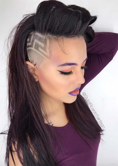 Hairstyles For Undercut  51 Long Undercut Hairstyles for Women In 2019 DIY