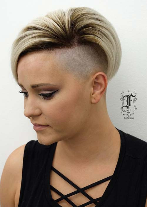 Hairstyles For Undercuts  51 Edgy and Rad Short Undercut Hairstyles for Women Glowsly
