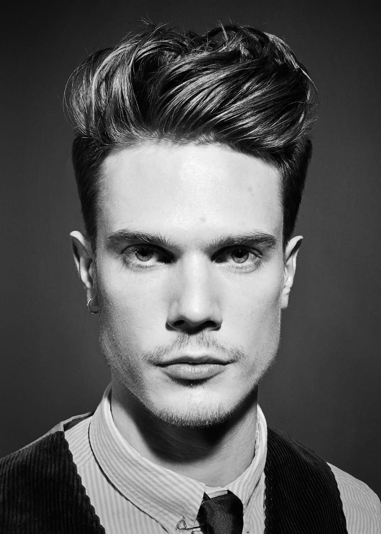 Hairstyles Male  9 Men s Quiff Hairstyle Variations
