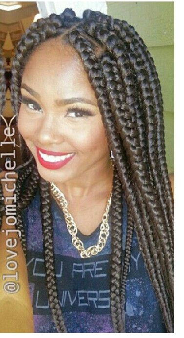 Best ideas about Hairstyles With Jumbo Braid Hair . Save or Pin 1000 images about Locs braids twists on Pinterest Now.