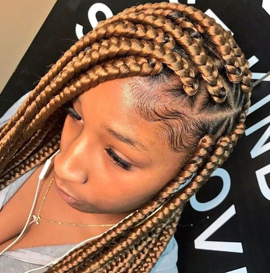 Best ideas about Hairstyles With Jumbo Braid Hair . Save or Pin 42 Chunky Cool Jumbo Box Braids Styles in Every Length Now.