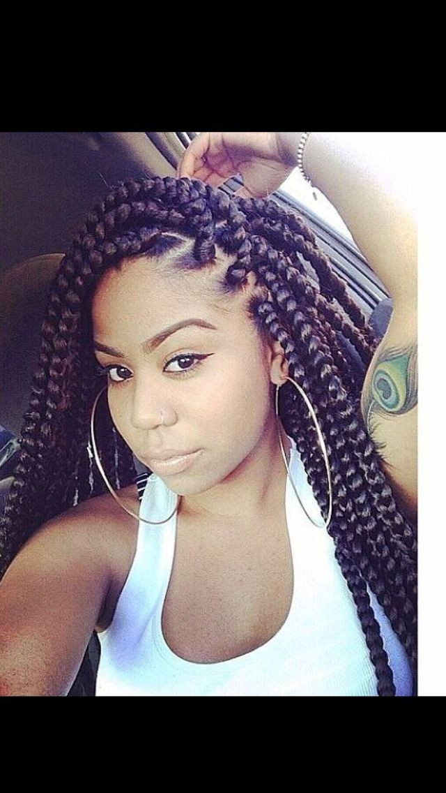 Best ideas about Hairstyles With Jumbo Braid Hair . Save or Pin Follow me Protective styles and Twists on Pinterest Now.