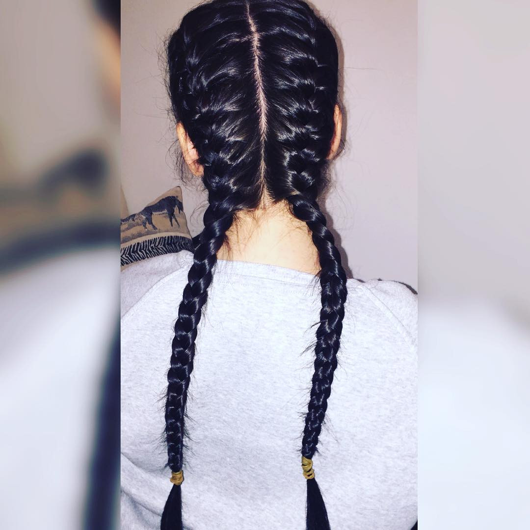 Hairstyles With Two Braids  26 Black Braid Hairstyles Designs Ideas