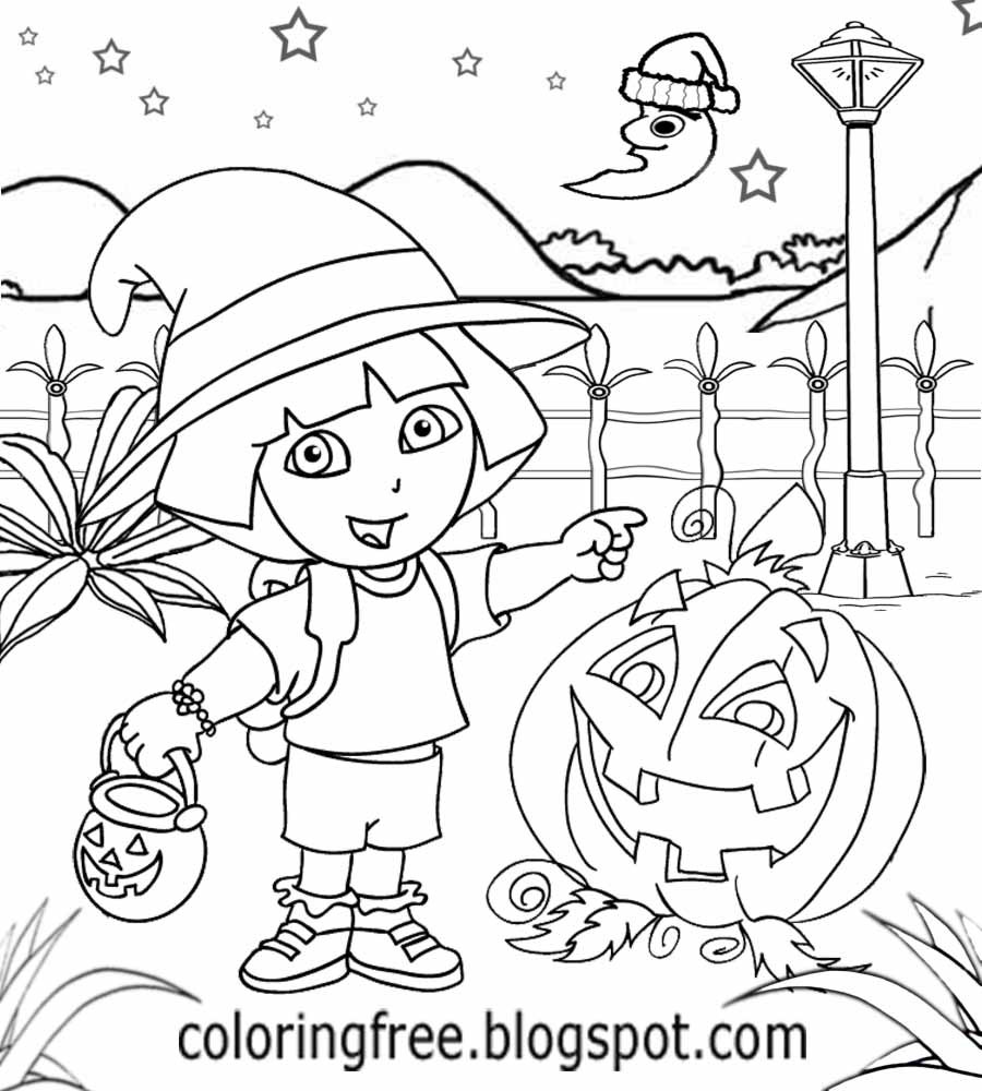 Halloween Coloring Pages For Girls  Free Coloring Pages Printable To Color Kids