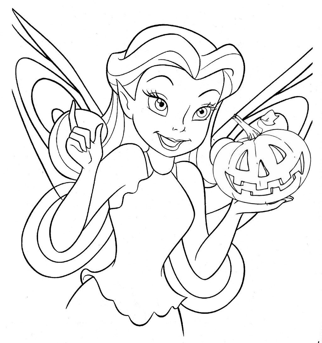 Halloween Coloring Pages For Girls  Free Printable Fairy Coloring Pages For Kids