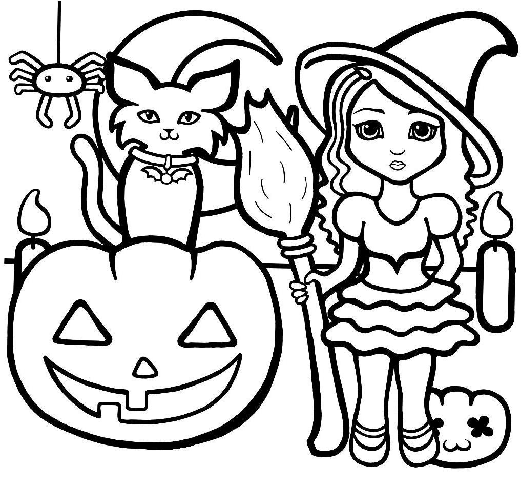 Halloween Coloring Pages For Girls  Halloween Coloring Pages line Print Coloring Home