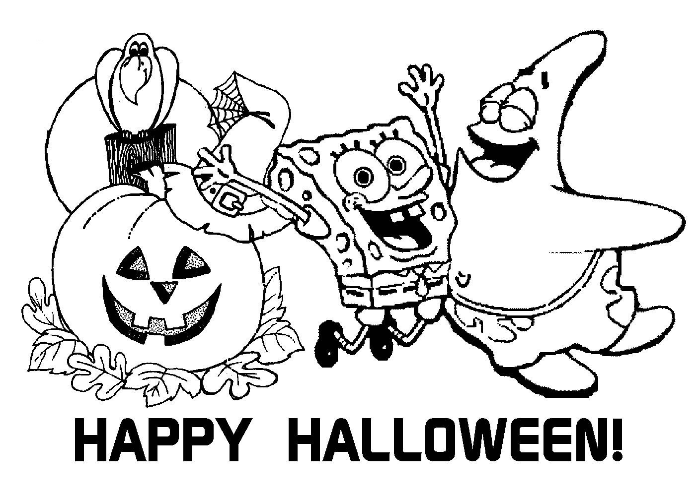 Halloween Coloring Sheets For Kids  Halloween Coloring Pages Free To Download