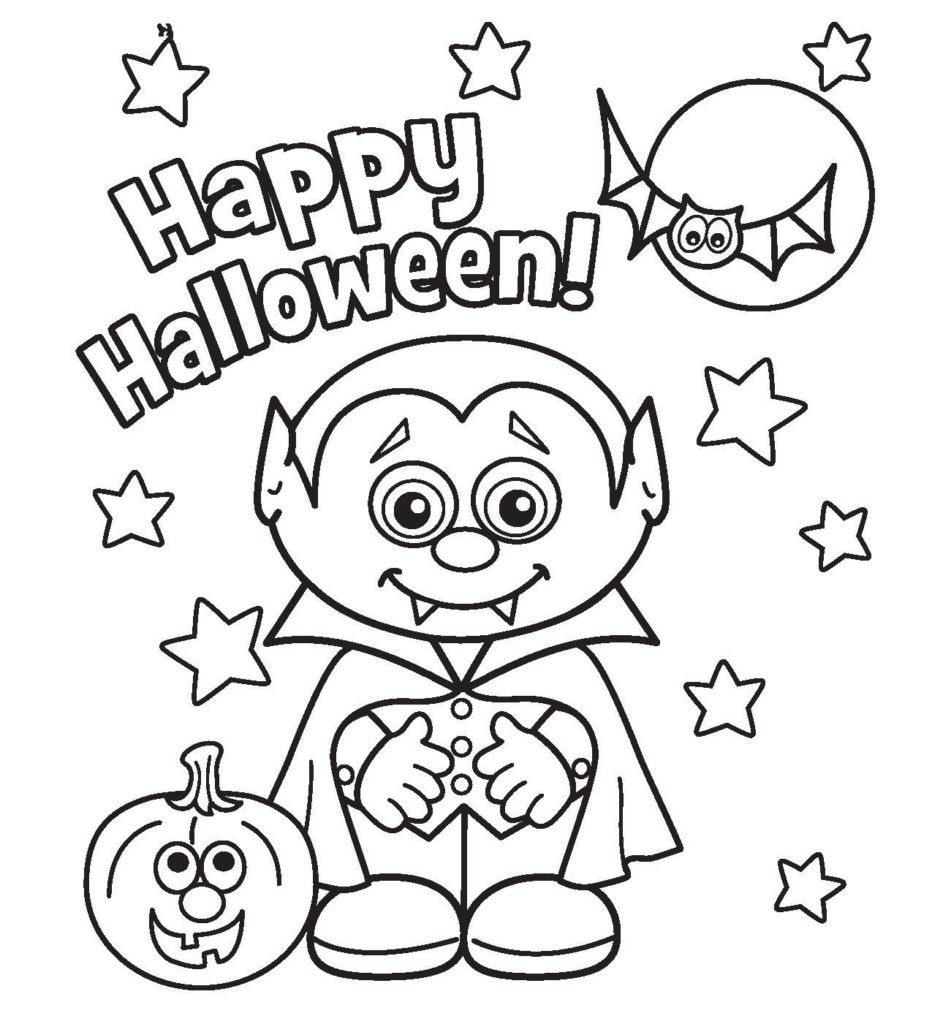 Halloween Coloring Sheets For Kids  Coloring Pages Halloween Interactive Coloring Pages