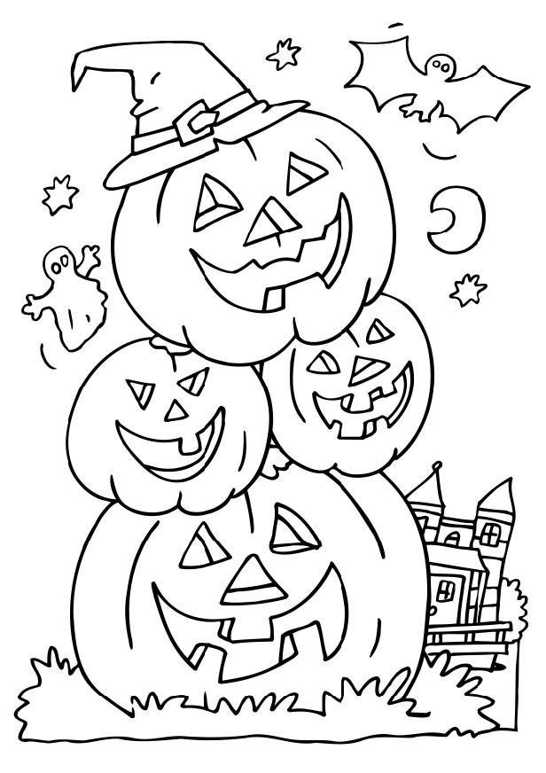 Halloween Coloring Sheets For Kids  Free Printable Halloween Coloring Pages For Kids