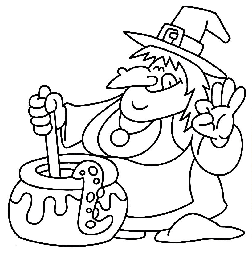 Halloween Free Coloring Pages Printable  24 Free Printable Halloween Coloring Pages for Kids