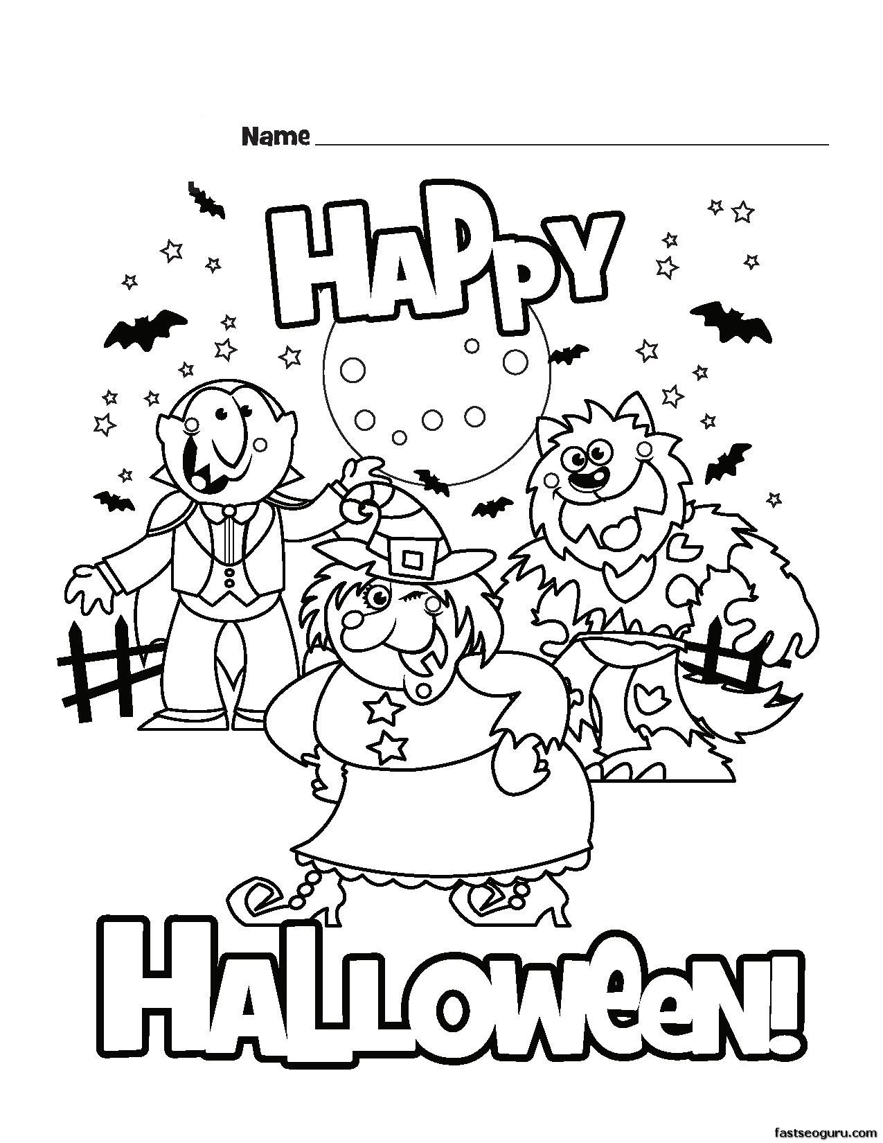 Halloween Free Coloring Pages Printable  Best of Free Halloween Coloring Pages Bestofcoloring