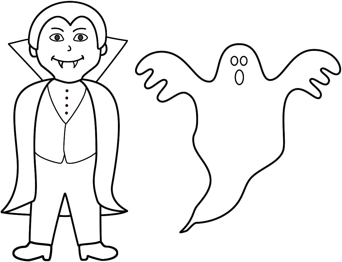 Halloween Ghost Coloring Pages  Halloween 2016 Printable Coloring Pages For Toddlers