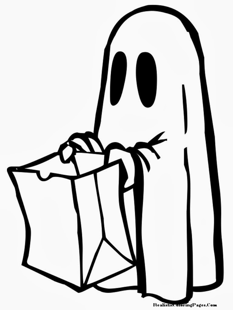Halloween Ghost Coloring Pages  Happy Halloween Printable Coloring Pages