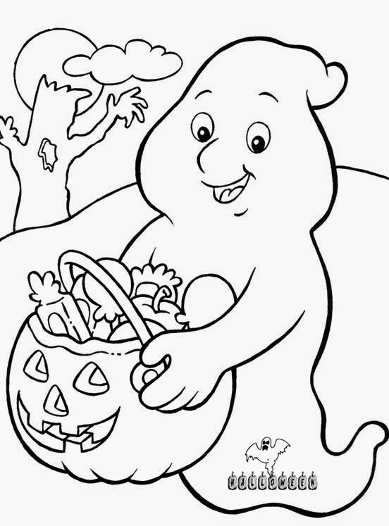 Halloween Ghost Coloring Pages  Realistic Halloween Coloring Pages