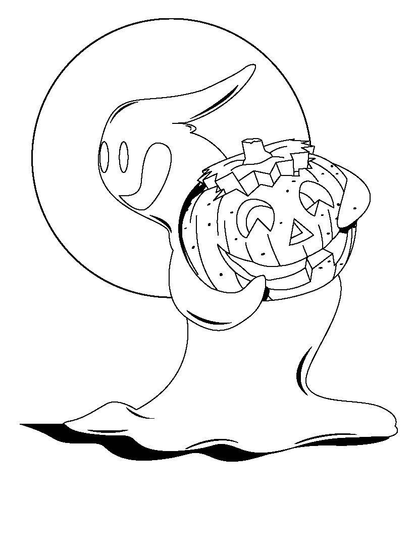 Halloween Ghost Coloring Pages  Free Printable Ghost Coloring Pages For Kids