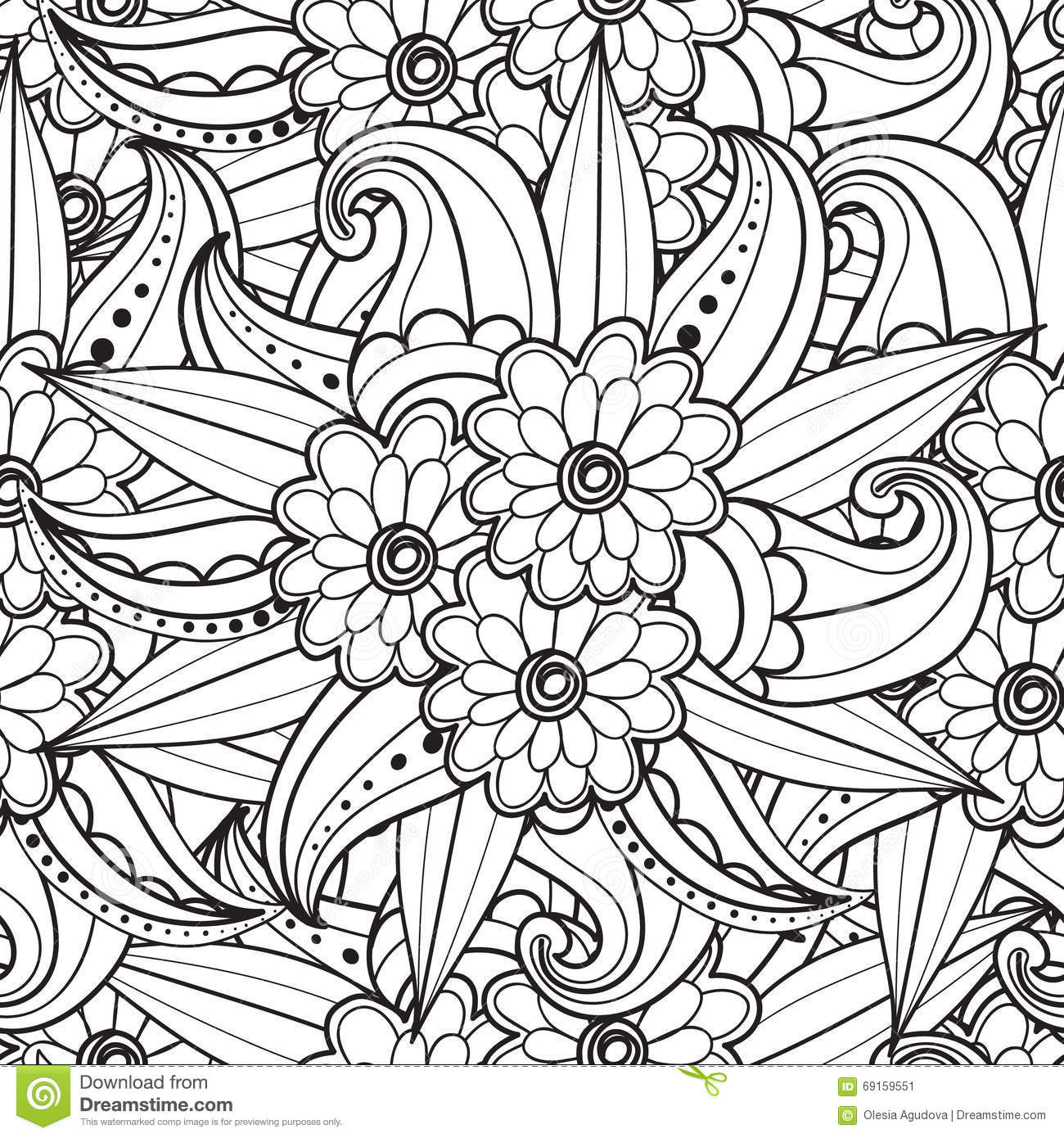 Hand Drawn Coloring Pages  Pages For Adult Coloring Book Hand Drawn Artistic Ethnic