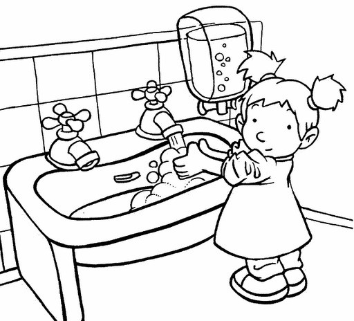 Handwashing Coloring Pages  Hand Washing Coloring Page AZ Coloring Pages