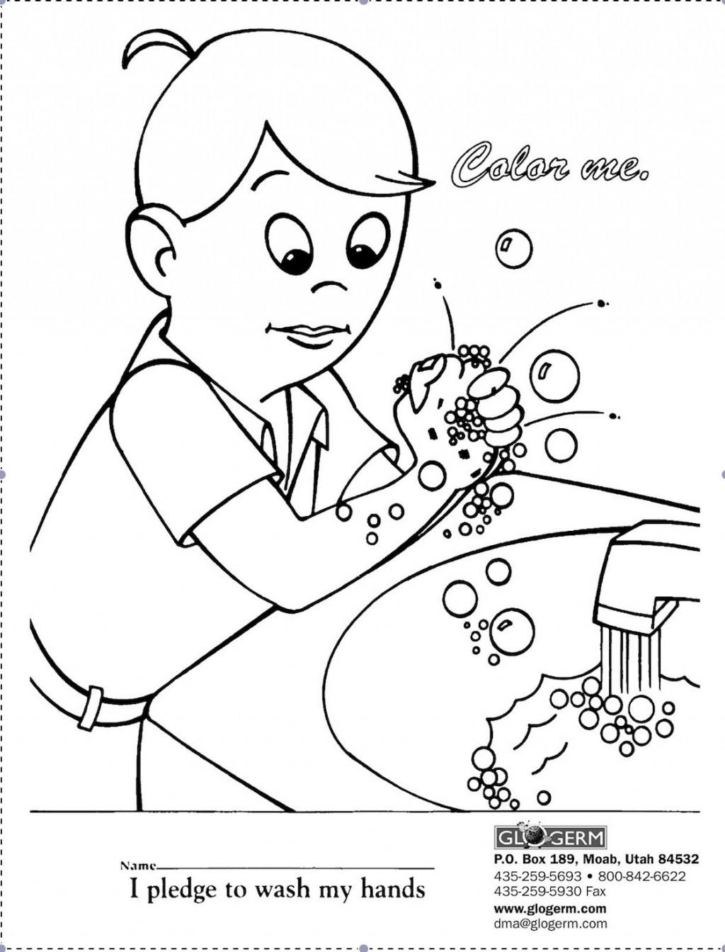 Handwashing Coloring Pages  16 Best of Germ Worksheets Printable Kindergarten