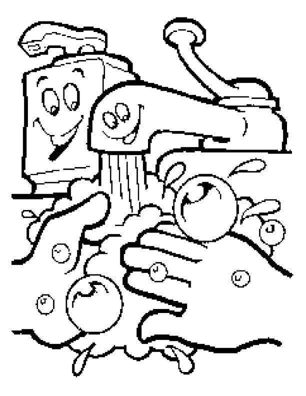 Handwashing Coloring Pages  Free Coloring Pages Handwashing And Germs