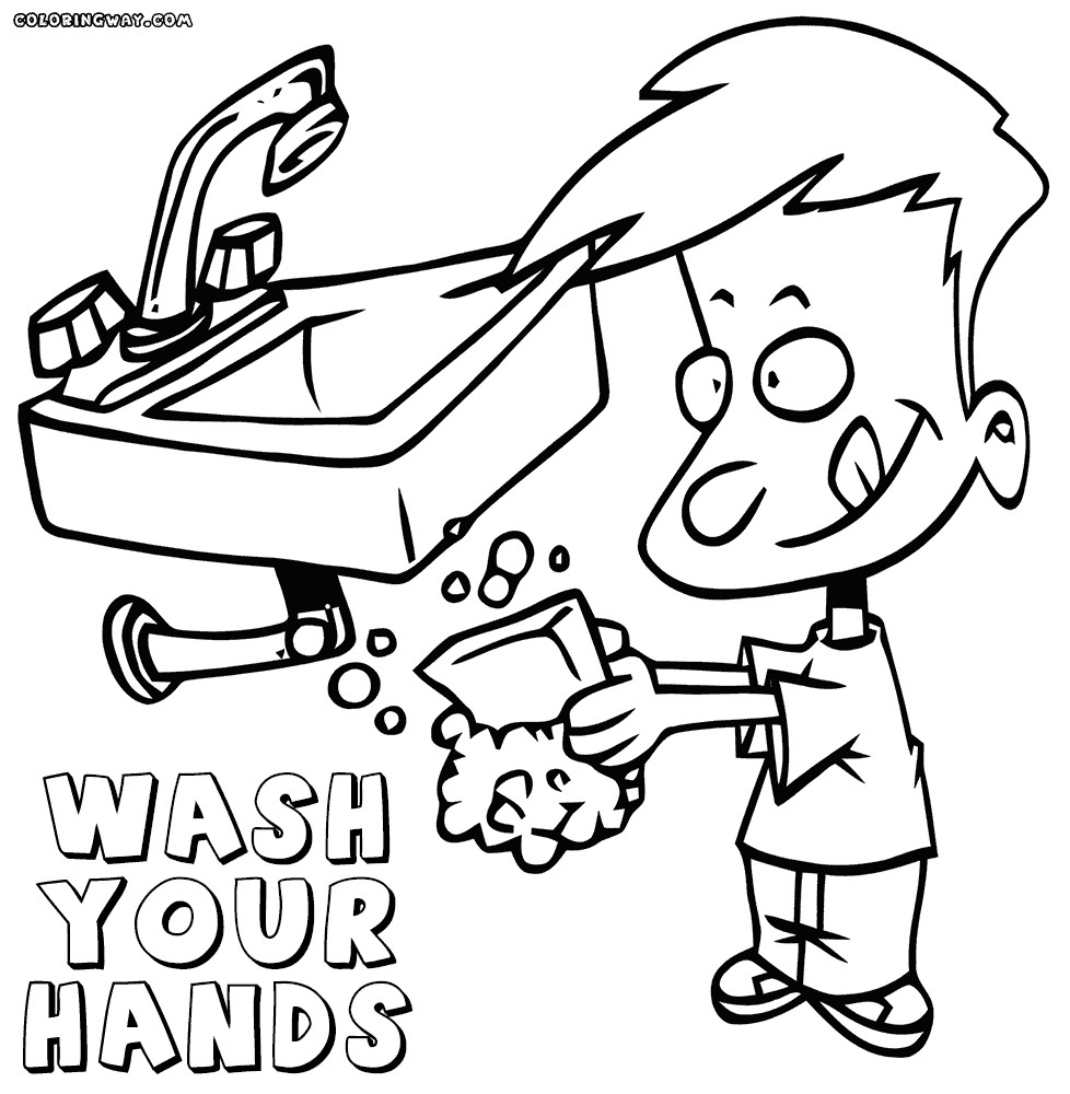 Handwashing Coloring Pages  Great Henry The Hand Coloring Pages 20 Wash Your Hands