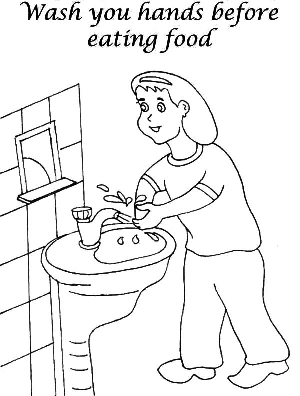 Handwashing Coloring Pages  Washing Hands Free Coloring Pages