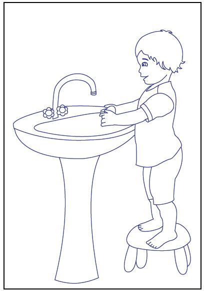 Handwashing Coloring Pages  Free Coloring Pages Handwashing Bestofcoloring